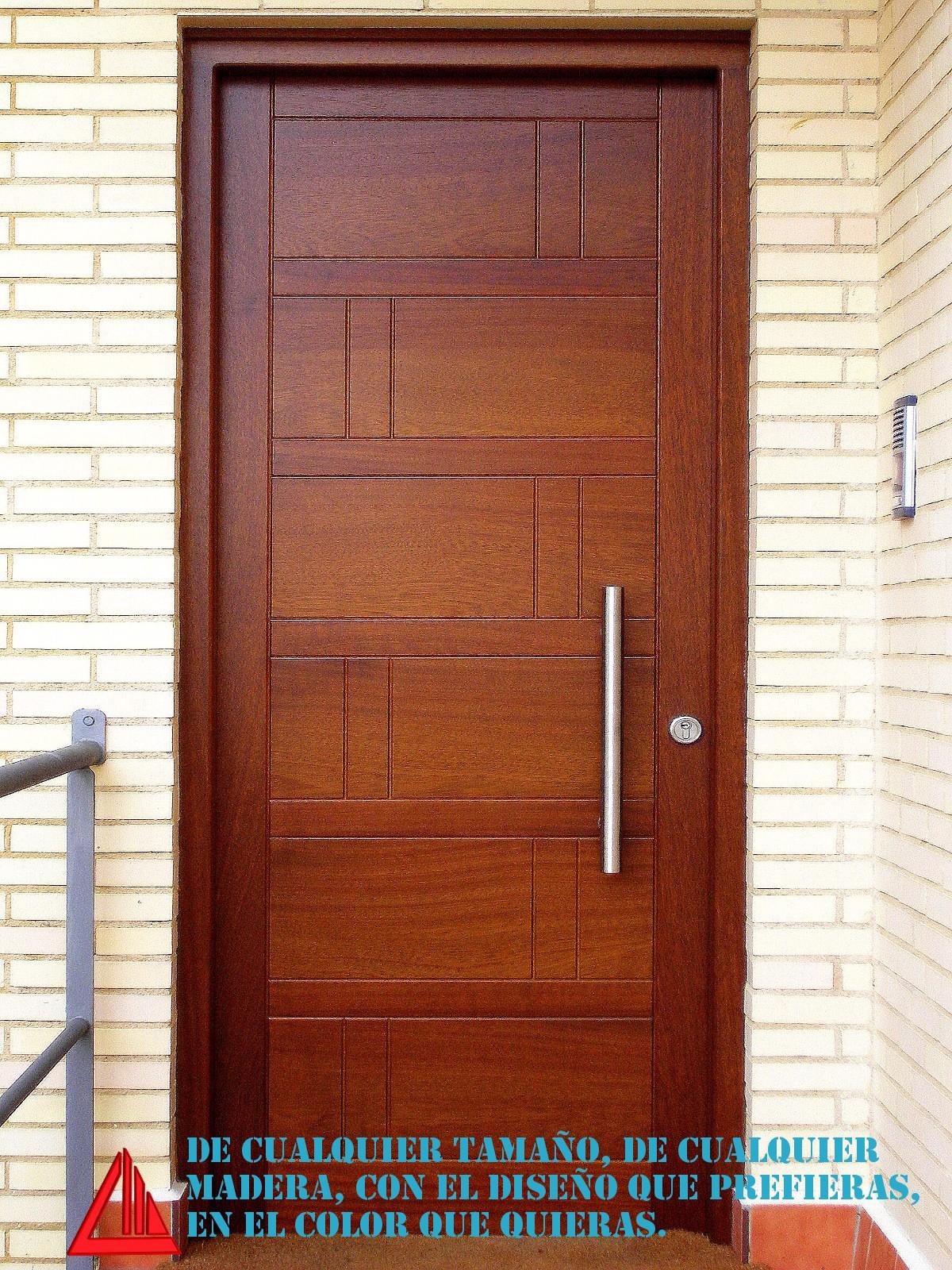 Puertas entrada madera puerta de entrada madera maciza for Puertas de madera maciza exterior precios