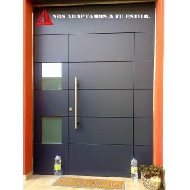 Puerta exterior de melamina negra