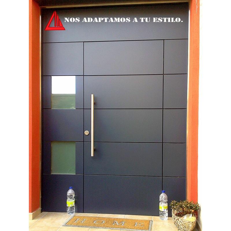 Puerta exterior de melamina negra for Puertas de melamina