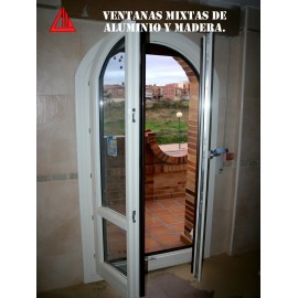 Ventana mixta ovalada color blanco