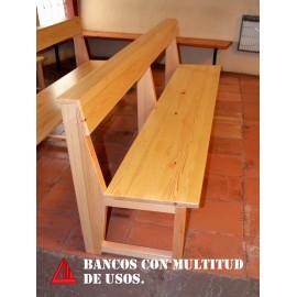 Bancos de madera (Iglesia La Llana) 1