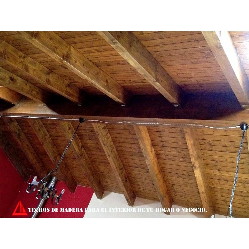 Techo de madera para interior for Techos madera interior