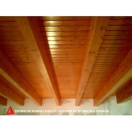 techo de techo de madera para interior