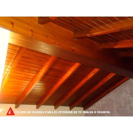 Madera para techos interiores stunning cubiertas de - Techo de madera interior ...