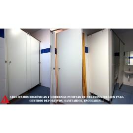 Cabinas sanitarias fenólicas (CDE) blanco