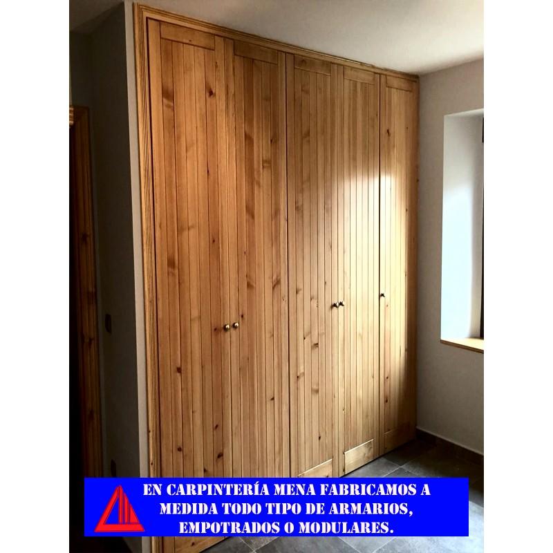 Armario empotrado de pino con puertas abatibles - Puertas abatibles para armarios empotrados ...