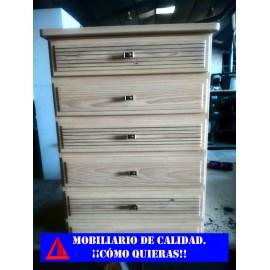 CAJONERA DE PINO BARNIZADA NATURAL