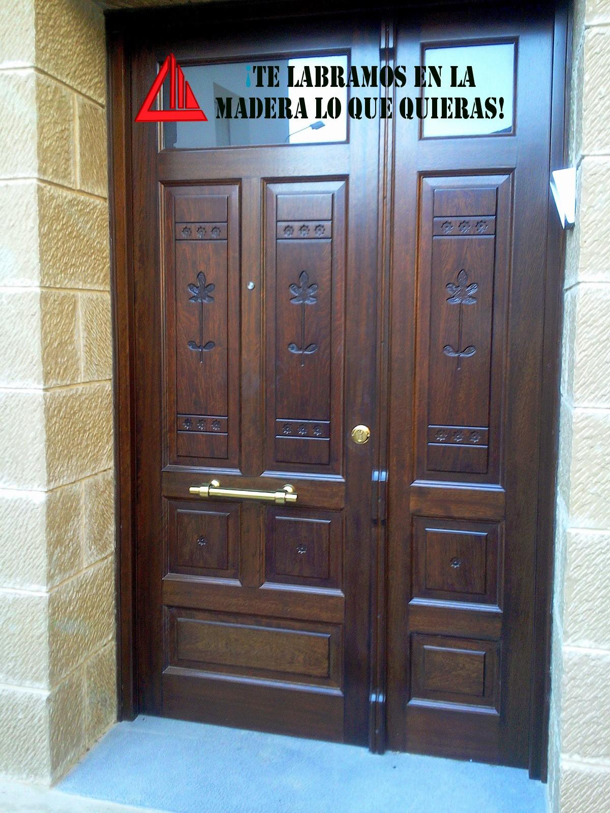 Puertas De Doble Hoja Carpinteria Mena